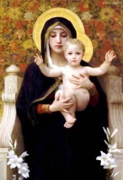 Ilustrasi Nabi Isa dan Bunda Maryam